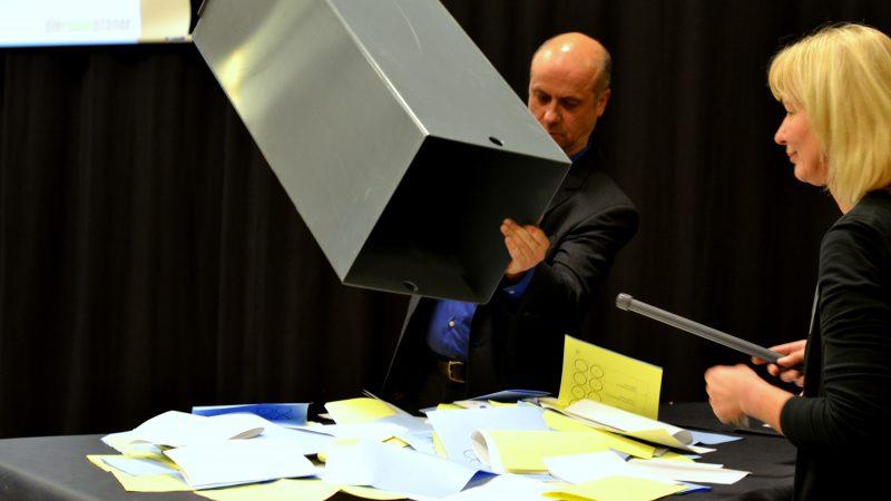 Auswertung der Wahlurne