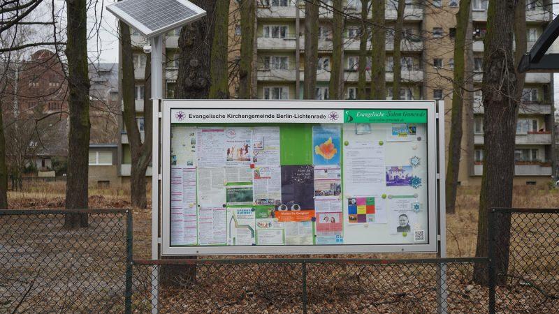 Schaukasten der Evangelischen Kirchengemeinde Berlin-Lichtenrade (Gebietsfondsprojekt 2016)