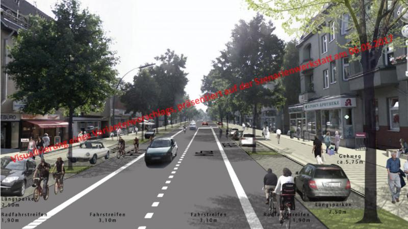 Visualisierung des Straßenraumes, Variante A2