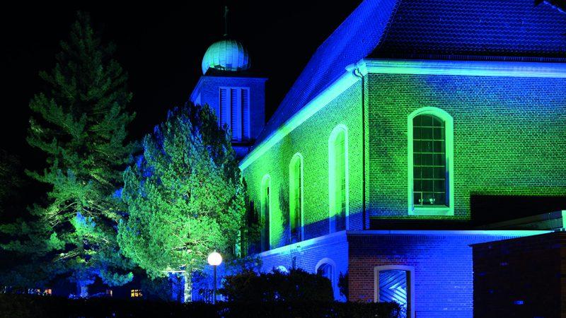 Beleuchtung der Salvator Kirche (2) (Foto: Kaya Tuerkay)