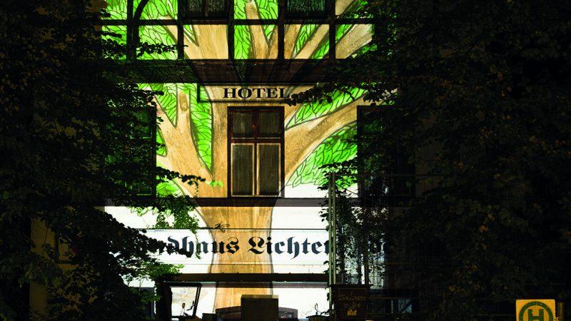 Lichtprojektion am Landhaus Lichtenrade (Foto: Kaya Tuerkay)