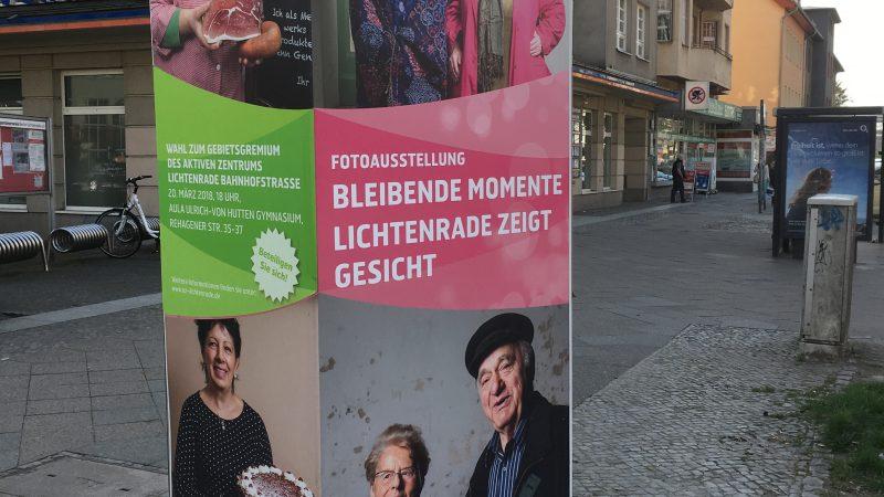 """Neubeklebung im Rahmen der Ausstellung """"Bleibende Momente"""" (Quelle: die raumplaner 2018)"""