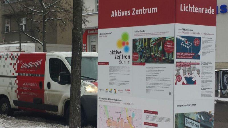 Erster Standort Ecke Rehagener Straße (Quelle: die raumplaner 2016)