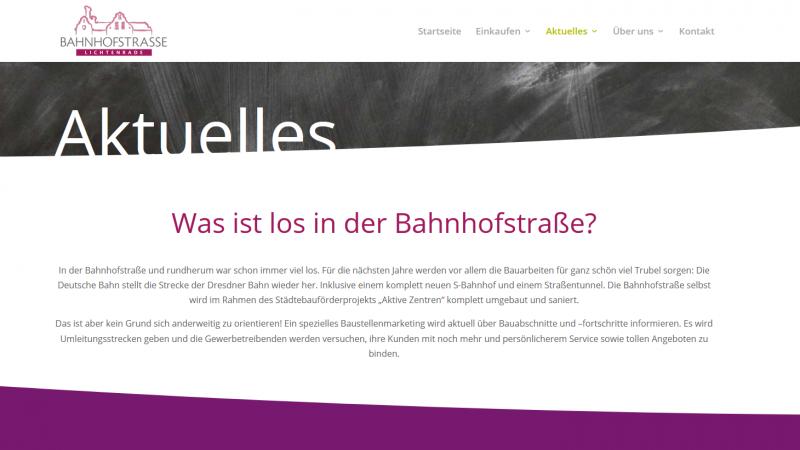 Einblicke in die Webseite